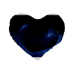 Blue Heart Collection Standard 16  Premium Flano Heart Shape Cushions