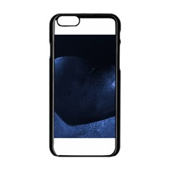 Blue Heart Collection Apple iPhone 6 Black Enamel Case