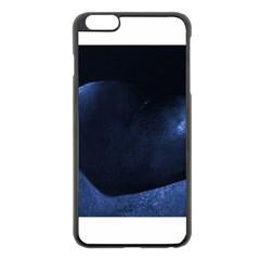 Blue Heart Collection Apple iPhone 6 Plus Black Enamel Case