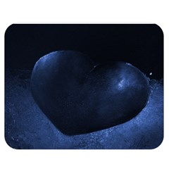 Blue Heart Collection Double Sided Flano Blanket (Medium)