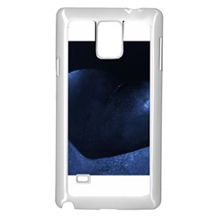 Blue Heart Collection Samsung Galaxy Note 4 Case (White)