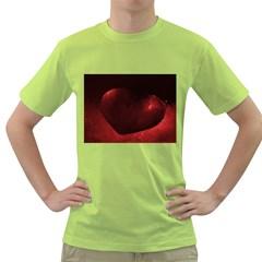 Red Heart Green T Shirt