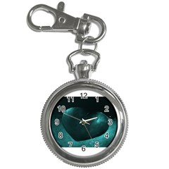 Teal Heart Key Chain Watches