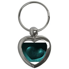 Teal Heart Key Chains (heart)