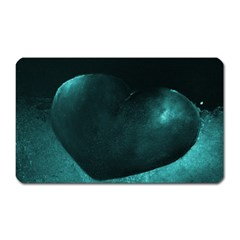 Teal Heart Magnet (rectangular)