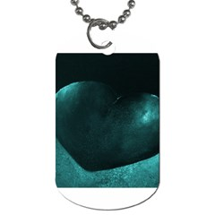 Teal Heart Dog Tag (two Sides)