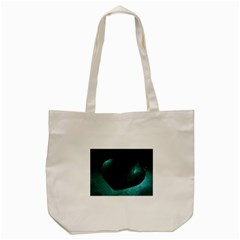 Teal Heart Tote Bag (cream)
