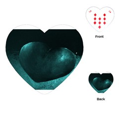 Teal Heart Playing Cards (Heart)