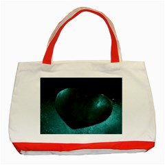 Teal Heart Classic Tote Bag (red)