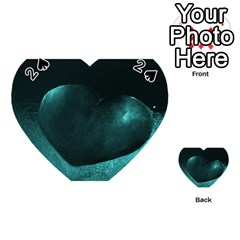 Teal Heart Playing Cards 54 (heart)