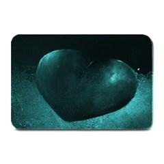 Teal Heart Plate Mats