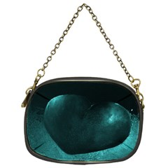 Teal Heart Chain Purses (one Side)