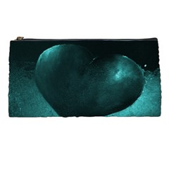 Teal Heart Pencil Cases