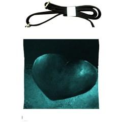 Teal Heart Shoulder Sling Bags