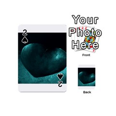 Teal Heart Playing Cards 54 (Mini)