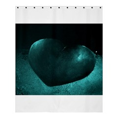 Teal Heart Shower Curtain 60  x 72  (Medium)