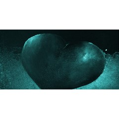 Teal Heart You Are Invited 3d Greeting Card (8x4)