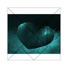 Teal Heart Acrylic Tangram Puzzle (6  x 6 )