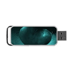 Teal Heart Portable USB Flash (One Side)