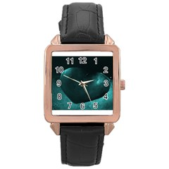 Teal Heart Rose Gold Watches