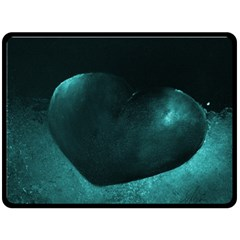 Teal Heart Double Sided Fleece Blanket (large)