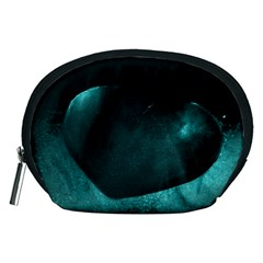 Teal Heart Accessory Pouches (medium)