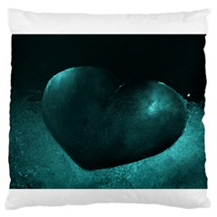 Teal Heart Standard Flano Cushion Cases (One Side)