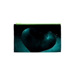 Teal Heart Cosmetic Bag (xs)
