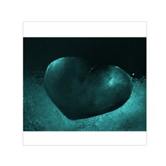 Teal Heart Small Satin Scarf (Square)