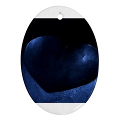 Blue Heart Collection Ornament (oval)