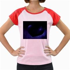 Blue Heart Collection Women s Cap Sleeve T-Shirt