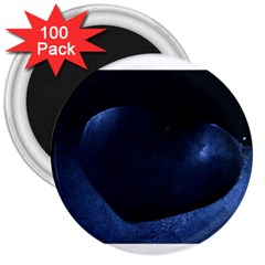 Blue Heart Collection 3  Magnets (100 Pack)