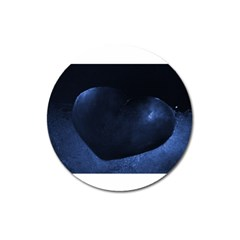 Blue Heart Collection Magnet 3  (round)