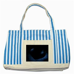 Blue Heart Collection Striped Blue Tote Bag