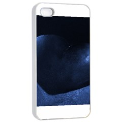 Blue Heart Collection Apple iPhone 4/4s Seamless Case (White)
