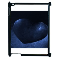 Blue Heart Collection Apple Ipad 2 Case (black)