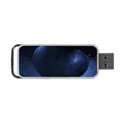 Blue Heart Collection Portable USB Flash (One Side)