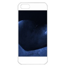 Blue Heart Collection Apple Iphone 5 Seamless Case (white)