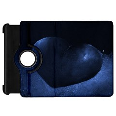 Blue Heart Collection Kindle Fire Hd Flip 360 Case