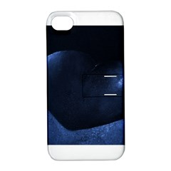 Blue Heart Collection Apple Iphone 4/4s Hardshell Case With Stand