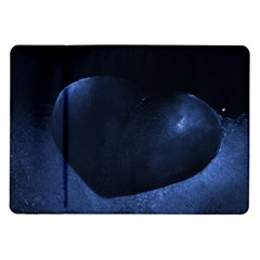 Blue Heart Collection Samsung Galaxy Tab 10 1  P7500 Flip Case