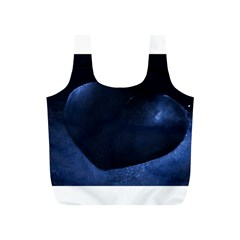 Blue Heart Collection Full Print Recycle Bags (s)