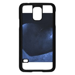Blue Heart Collection Samsung Galaxy S5 Case (Black)