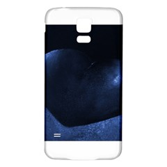 Blue Heart Collection Samsung Galaxy S5 Back Case (White)
