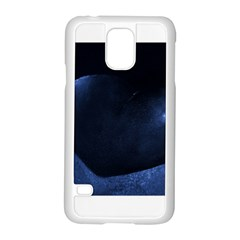 Blue Heart Collection Samsung Galaxy S5 Case (White)
