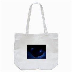 Blue Heart Collection Tote Bag (white)