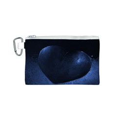 Blue Heart Collection Canvas Cosmetic Bag (s)