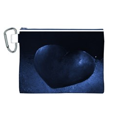 Blue Heart Collection Canvas Cosmetic Bag (L)