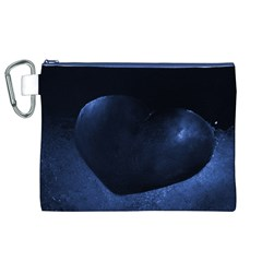 Blue Heart Collection Canvas Cosmetic Bag (XL)