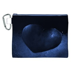 Blue Heart Collection Canvas Cosmetic Bag (XXL)